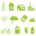 Eco and recycling icon set Royalty Free Stock Photo