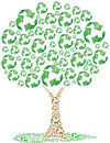Eco Recycling Tree Stock Image