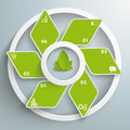 Eco rhombus green fan white rings piad infographic design with set on the grey background eps file Royalty Free Stock Photo