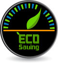 Eco saving logo Royalty Free Stock Images