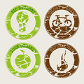 Eco seals over white background vector illustration Stock Images