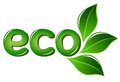Eco sign with leafs Royalty Free Stock Image
