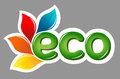 Eco sign with leafs Stock Photography