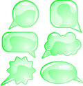 Eco speech bubble set Royalty Free Stock Photos