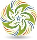 Eco star hands logo Royalty Free Stock Photo