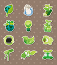 Eco stickers Royalty Free Stock Photos