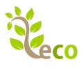Eco symbol or logo Royalty Free Stock Photography