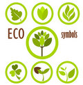 Eco symbols collection Royalty Free Stock Images