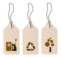Eco tags set isolated on white Royalty Free Stock Photo