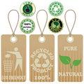 Eco tags and stickers 2 Stock Photos