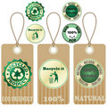 Eco tags and stickers 3 Stock Image