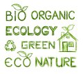 Eco text set Stock Photography