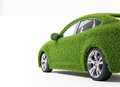 Eco transport grass covered car green ecofriendly concept Stock Image