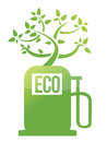 Eco tree gas pump illustration design Royalty Free Stock Photos
