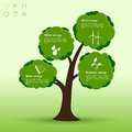 Eco-tree infographic Royalty Free Stock Photo