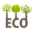 Eco trees Stock Images