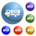 stock image of  Eco truck icons set vector