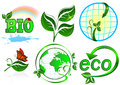 Eco vector set items on white background Royalty Free Stock Images