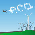 Eco Windmill Stock Photo