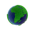 Eco world concept with white background clipping path included covering map green grass for on Royalty Free Stock Image