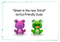 Ecofriendly frog Royalty Free Stock Photo