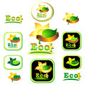 Ecologic   icon and logotype Royalty Free Stock Image