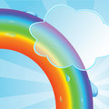 Ecological background with a rainbow Stock Image