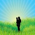 Ecological background. Vector illustration Royalty Free Stock Photo