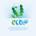 Ecological banner with the words eco spray water and dandelion Royalty Free Stock Images