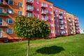 Ecological block of flats Stock Photos