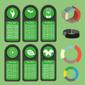 Ecological business green infographic with icons and 3d charts, flat design Royalty Free Stock Photo