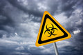 Ecological catastrophe biohazard illustrated sign Stock Photo