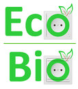Ecological concept, symbolizing bio energy Stock Photos