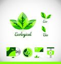 Ecological eco bio leaf green logo icon design Royalty Free Stock Photo