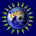 Ecological and environmental earth Royalty Free Stock Photo
