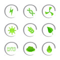 Ecological and environmental icons Stock Image