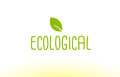 ecological green leaf text concept logo icon design Royalty Free Stock Photo