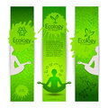 Ecological harmony concept banners vector illustration eps contains transparencies Royalty Free Stock Photos
