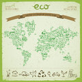 Ecological harmony concept vector illustration eps contains transparencies Stock Photography