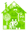 Ecological home Royalty Free Stock Photography