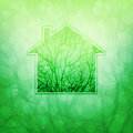 Ecological house conceptual vector illustration eps Royalty Free Stock Photo