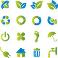 Ecological icons Stock Images