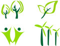 Ecological icons. Royalty Free Stock Photography