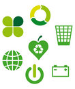 Ecological icons 2 Stock Photos