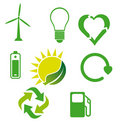 Ecological icons 3 Stock Photo