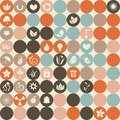Ecological icons seamless pattern in vector