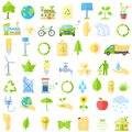 Ecological icons vector illustration of collection of Royalty Free Stock Photo
