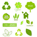 Ecological icons on white Royalty Free Stock Image