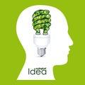 Ecological idea Royalty Free Stock Photo