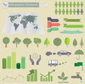 Ecological infographics for you design Stock Photography